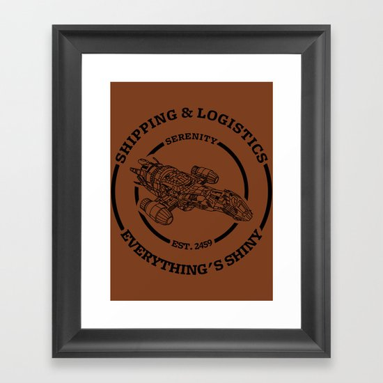 SERENITY SHIPPING AND LOGISTICS Framed Art Print