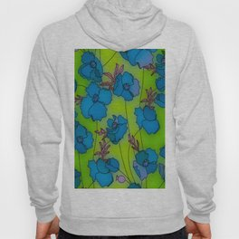 Neon Floral Composition Hoody