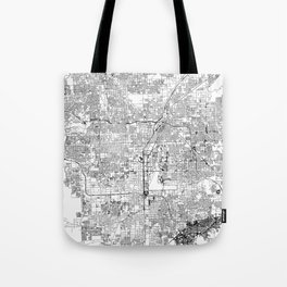 Las Vegas White Map Tote Bag