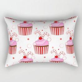 Christmas Cupcakes Rectangular Pillow