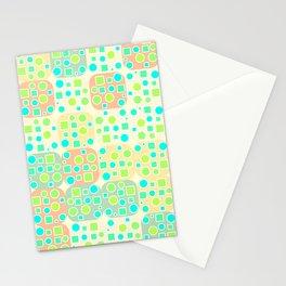 Fresh geometric pattern Stationery Cards