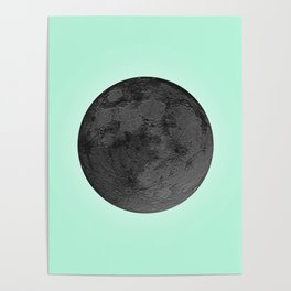 BLACK MOON + TEAL SKY Poster