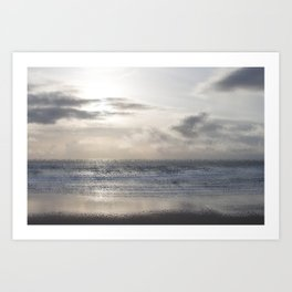 Silver Scene ~ Ocean Ripple Effect Art Print