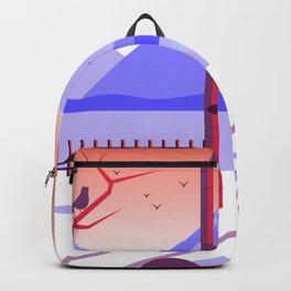 Hello Winter Landscape Backpack