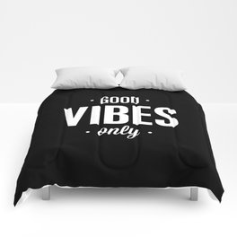 Good Vibes Only Black and White Typography Print Office Decor Wake Up Bedroom Poster Comforters