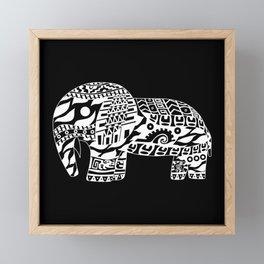 black elephant ecopop Framed Mini Art Print