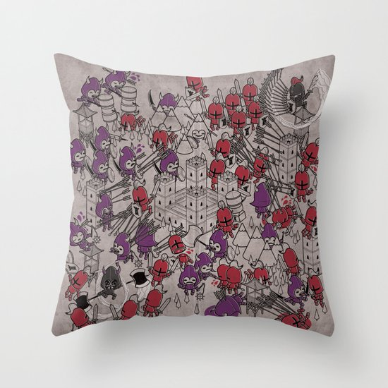 The Great Battle of 1211 Throw Pillow