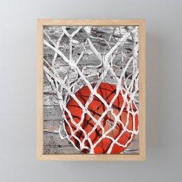 Basketball Art Framed Mini Art Print