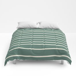 Dover White 33-6 Hand Drawn Horizontal Lines on Thistle Green 22-18 Comforters