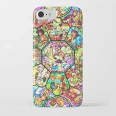 Mickey Mouse and Friends - Stained Glass Window Collage iPhone 7 Slim Case