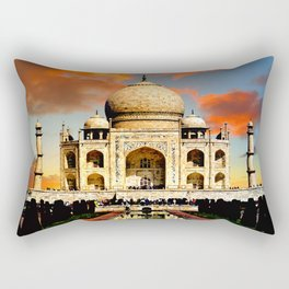 Taj Mahal Dawn Rectangular Pillow