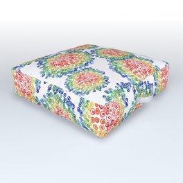 Color My Swirled Outdoor Floor Cushion
