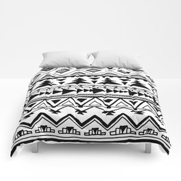 Tribal bohemian Mexican Aztec Style Pattern Doodle Comforters