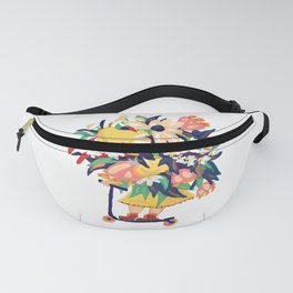 Floral Scooter Babe Fanny Pack