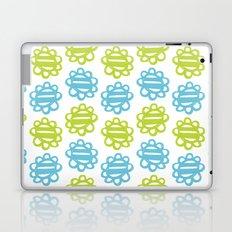 Fun Flowers blue green Laptop & iPad Skin
