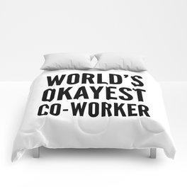 World's Okayest Co-worker Comforters