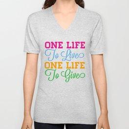 One Life Unisex V-Neck