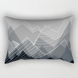 Grey Mountains Rectangular Pillow