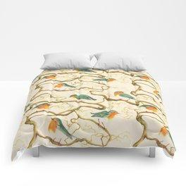 Robin in the Corkscrew Comforters