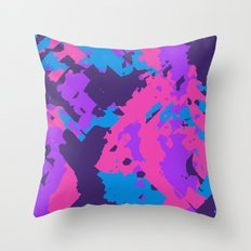 Pink Purple and Blue Abstract Throw Pillow