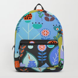 Midnight joyful inflorescence Backpack