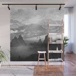Black and White - Winter. Melody... Wall Mural