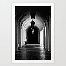 Dim Hall Art Print
