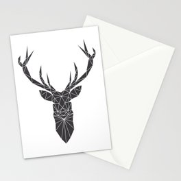 Grey Deer Head Illustration Stationery Cards