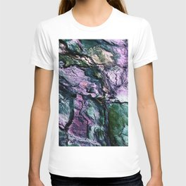 Textured Minerals Teal Green Purple T-shirt