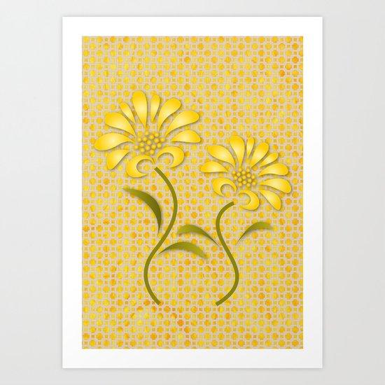 Origami  Flowers 2 Art Print