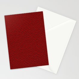 Chevrons #3 Red and Black Stationery Cards