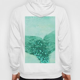 A Mermaid's Tail III, painterly coastal art, aqua metal Hoody