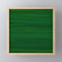 Emerald Green Stripes Abstract Framed Mini Art Print