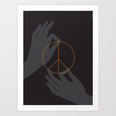 Buddha and peace Art Print