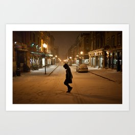 Québec Night Art Print