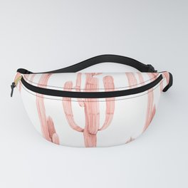 Pretty Coral Pink Cactus Pattern Fanny Pack