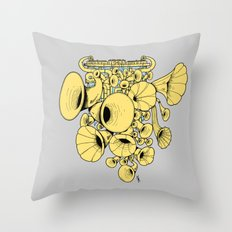 Gramophone DJ Throw Pillow