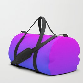 Neon Blue and Hot Pink Ombré Shade Color Fade Duffle Bag