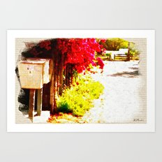 Down by the Mailboxes Art Print