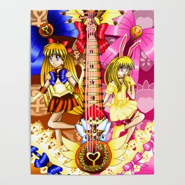 Sailor Mew Guitar #27 - Sailor Venus & Mew Berry Poster