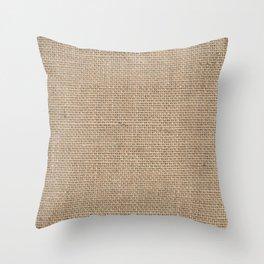 Burlap Texture Throw Pillow