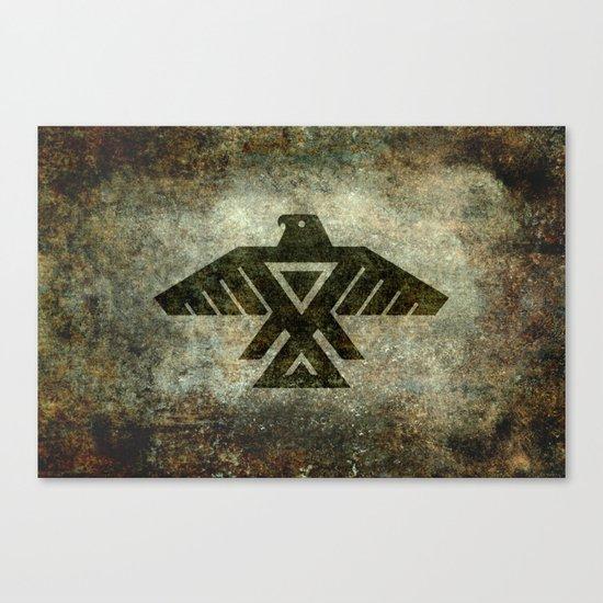 Thunderbird, Emblem of the Anishinaabe people - Vintage version Canvas Print