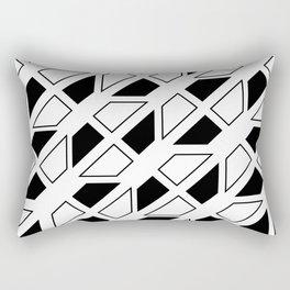 Black and White Trapezoid Rectangular Pillow