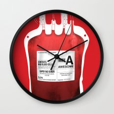 My Blood Type is A, for Awesome! *Classic* Wall Clock
