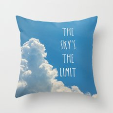 The Sky's the Limit Throw Pillow