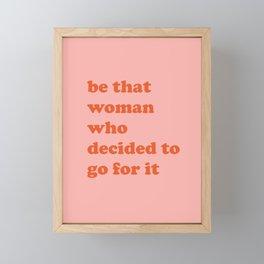 Female Empowerment Entrepreneur Quote Framed Mini Art Print