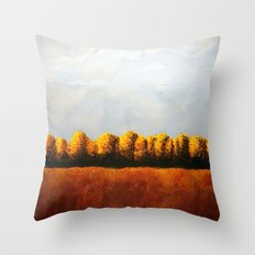 Treeline in Fall Throw Pillow