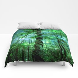 Forest Of The Fairies Green Blue Comforters