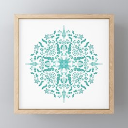 Magical Seahorse Mandala Framed Mini Art Print