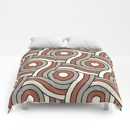 Circle Swirl Pattern Ever Classic Gray 32-24 Red River 4-21 and Dover White 33-6 Comforters
